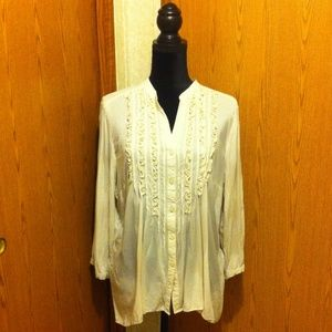 Spense buttondown blouse Size XL